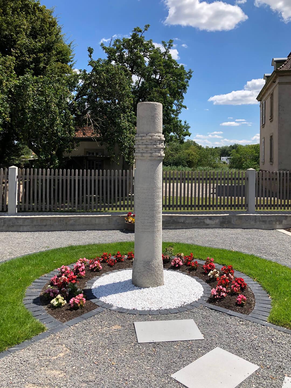 Gedenkstelle für Ludwig Marum, die anlässlich seines 50. Todestags im Jahr 1984 errichtet wurde